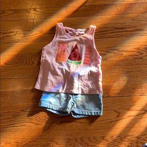 Popsical  shorts set size 4T